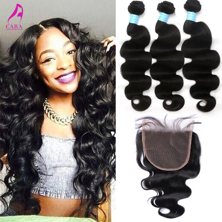 "7A Peruvian Virgin Hair Body Wave 5x5"" Lace Closure With Bundles Peruvian Hair Weave Bundles With Closure Rosa Hair Products"