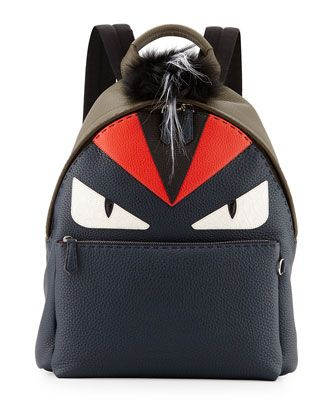 $5000 Monster Backpack with Fur Crest by Fendi at Neiman Marcus.