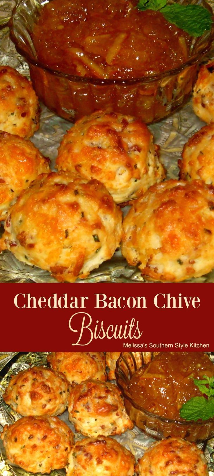 Parmesan Cheddar Chive Biscuits Recipe — Dishmaps