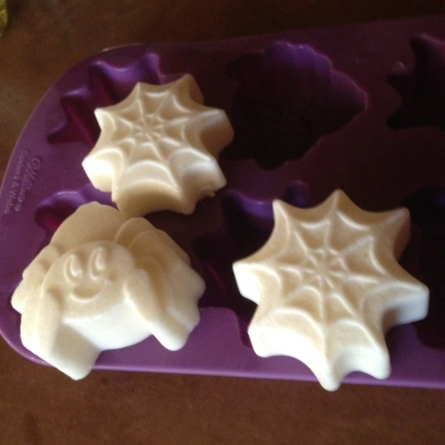 Coconut oil and bees wax lotion bars. Melted in double boiler in ratio of 1:1. Added rosemary essential oil.  And poured into mold. Voila. Instant gifts.