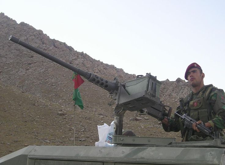 Portuguese Commando with a Browning M2
