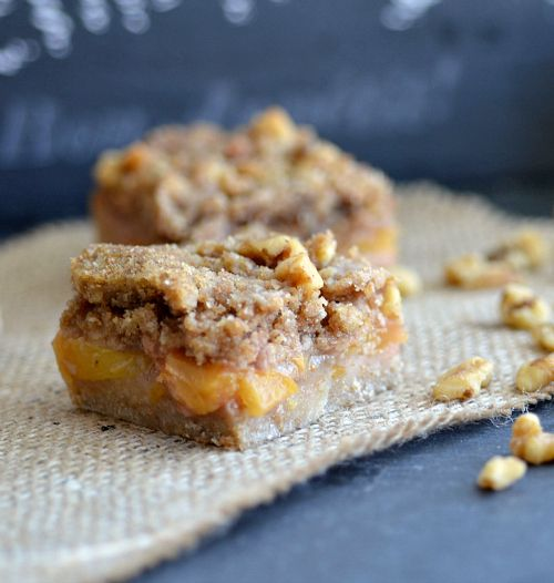 Low fat Bellini Bars - made w/ champagne filling!