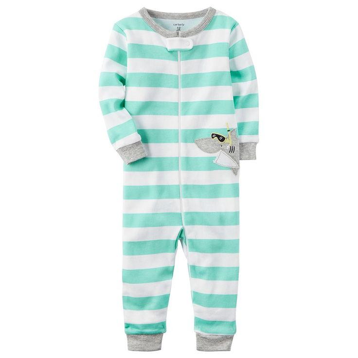 Toddler Boy Carter's Striped One-Piece Pajamas, Size: 5T, Ovrfl Oth