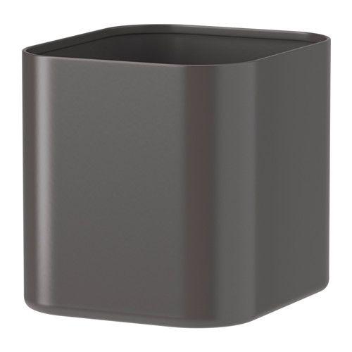 SKÅDIS Behållare IKEA Bra för att förvara pennor, tandborstar eller mynt. Enkla att fästa och flytta utan verktyg.