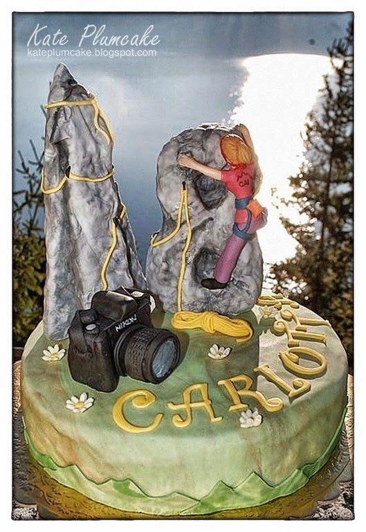Kate Plumcake - Italian Cake Art                         : Torta arrampicata su roccia - Free climbing cake
