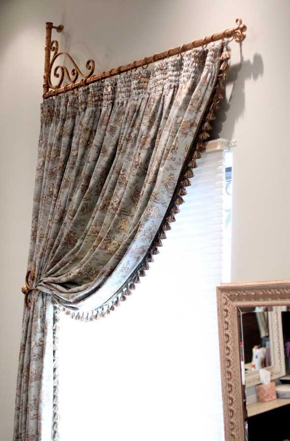 Best 25 drapery hardware ideas on pinterest for Door curtain pole