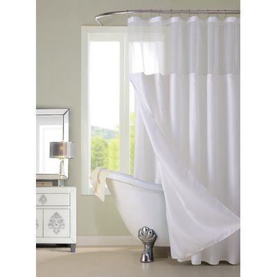 Dainty Home Hotel Shower Curtain Color: White
