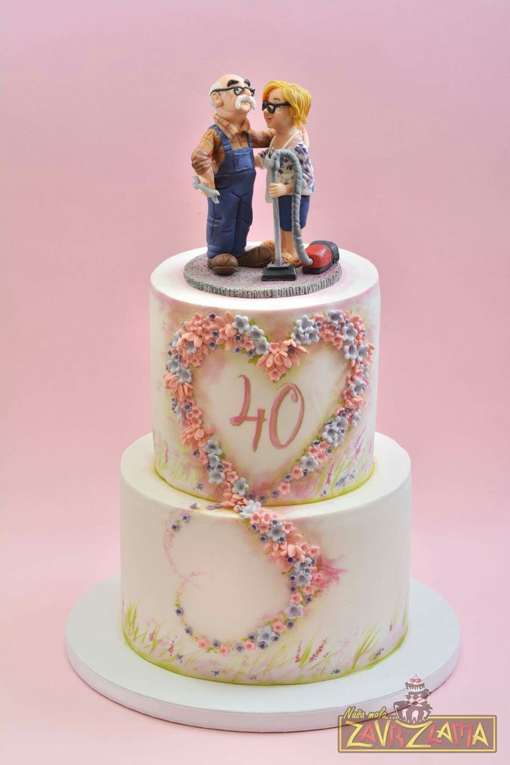 10 best Ruby Wedding Anniversary images on Pinterest | Cake wedding ...