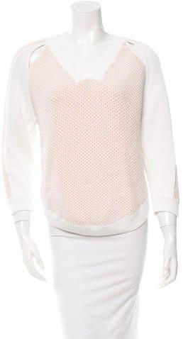 3.1 Phillip Lim Patterned V-Neck Sweater