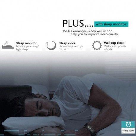I5 Plus IP67 Waterproof 0.91 inch OLED Touch Screen Bluetooth V4.0 Smart Bracelet Wristband, Support Pedometer / Sleep Monitori