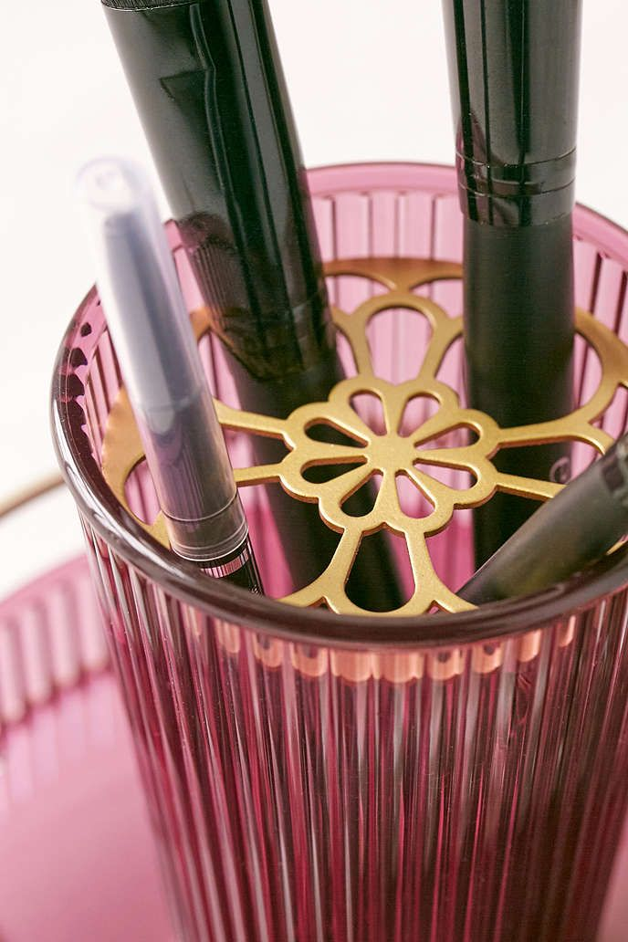 Ajoure Makeup Brush Organizer - Urban Outfitters