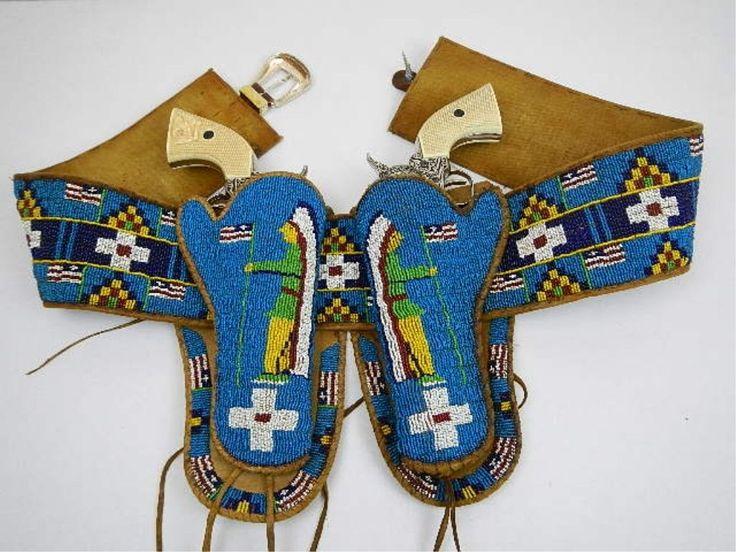 Sioux Indian Beaded Gun belt