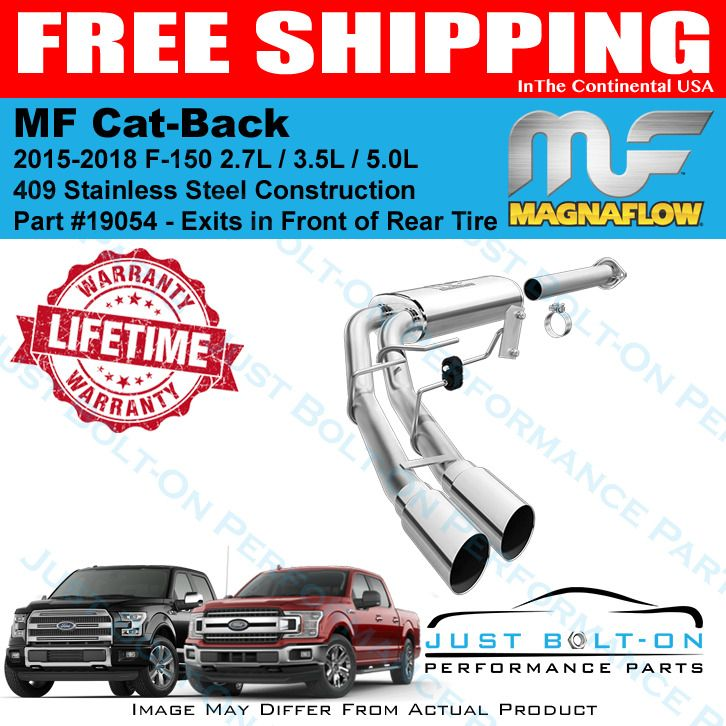 Magnaflow Cat Back Exhaust System For 2015 2019 Ford F 150 2 7l 3 5l 5 0l 19054 2019 Ford Ford F150 Performance Parts