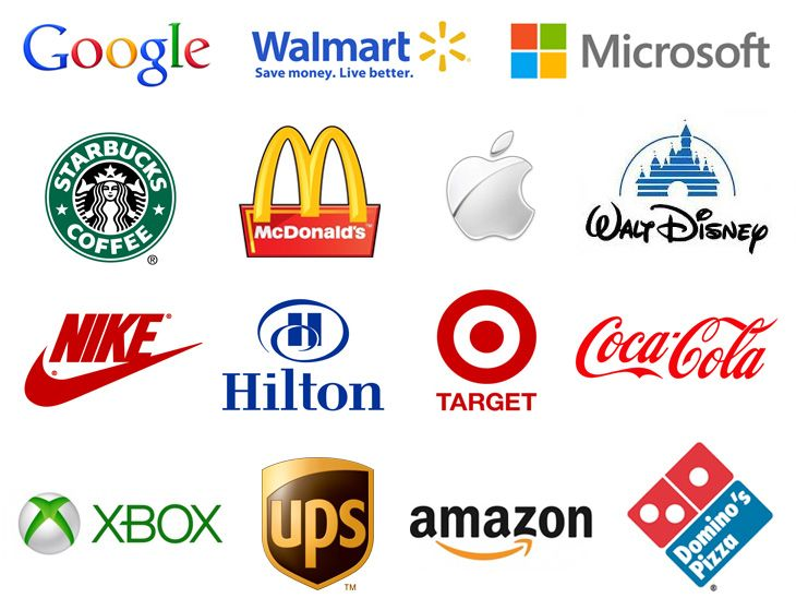 Examples of the most recognizable logos in the world for Top 10 product design companies