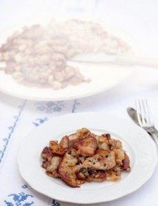 GROSTL - PADELLATA DI CARNE, PATATE E CIPOLLE Ricetta tipica della cucina austriaca, scopri come preparare i Grostl, un saporito secondo pia...