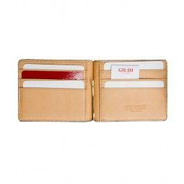 Invizibil, dar inconfundabil cu portofelul-portcard ultra-slim cu clips de bani, din piele