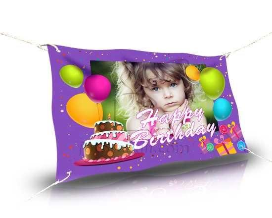 Crea striscione 150x100 per festa di compleanno