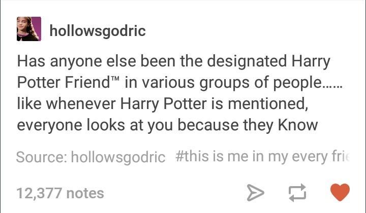"""They all know I'm """"You-Know-Who"""""""