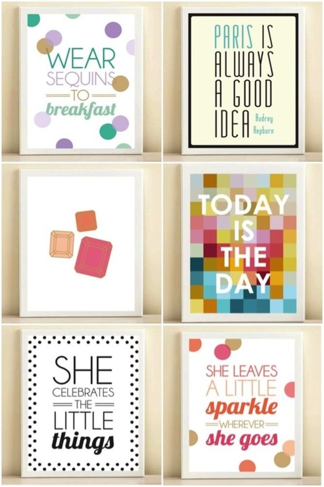 College dorm apartment wall decor quote posters College dorm wall decor