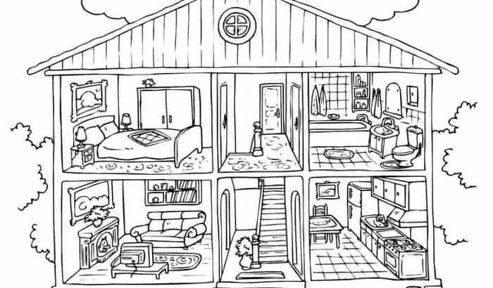 Barbie Doll House Coloring Pages Pictures
