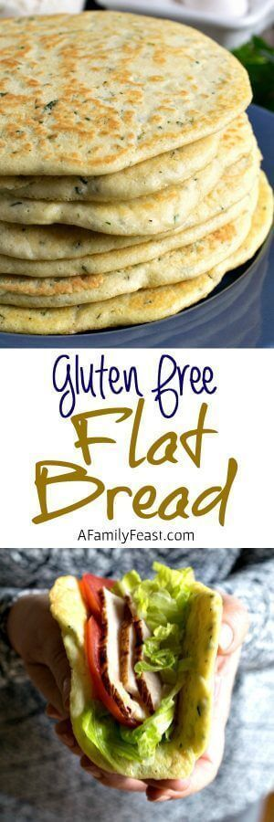 Definitely need to try this! - Gluten Free Flat Bread - A delicious alternative to pita bread!