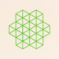 'Isometric' 1 colour relief print.