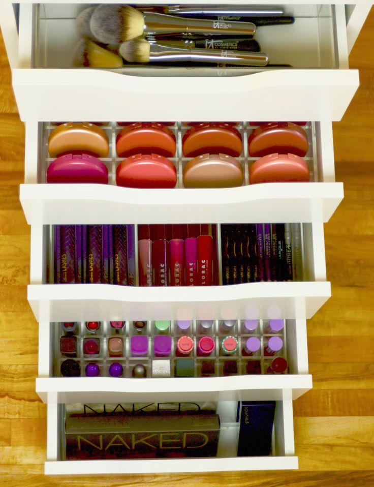 Makeup drawer organizer ikea