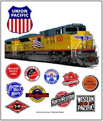 UNION-PACIFIC-034-HERITAGE-034-RAILROAD-TIN-SIGN-Train-Wall-Art