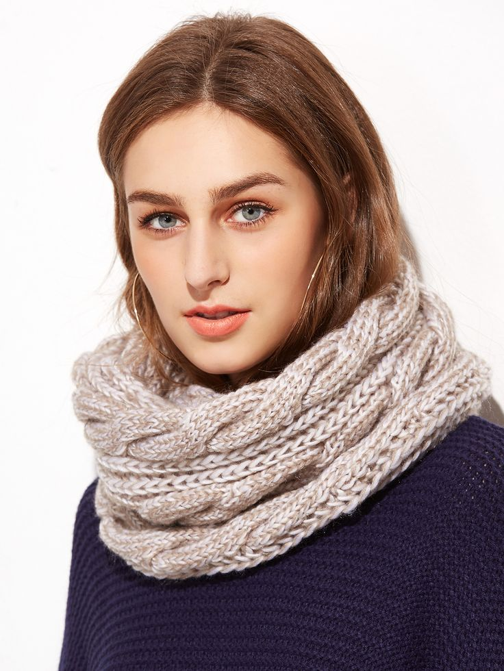 Shop Cable Knit Scarf For Ladies online. SheIn offers Cable Knit Scarf For Ladies & more to fit your fashionable needs.