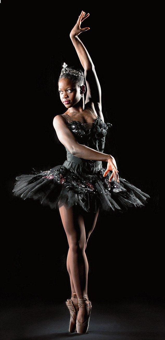 One girl's journey from war-torn Sierra Leone to ballet stardom, the fantastic Michaela De Prince in the Swan Lake (Black Swan costume)