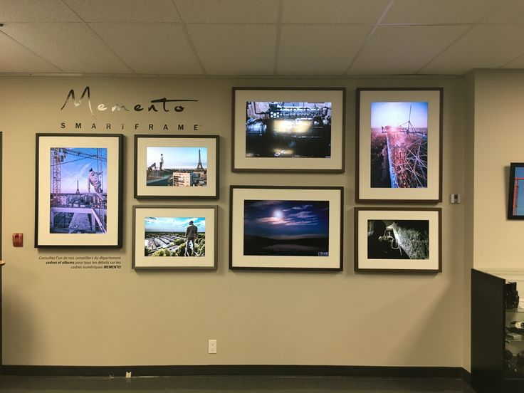 7 Memento Smart Frames!!! That means 21,000 photos in that wall space!