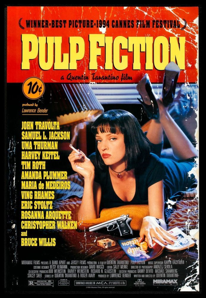 Particulars about Pulp Fiction FRIDGE MAGNET 6×8 Quentin Tarantino Magnetic Motion pictures Poster Print
