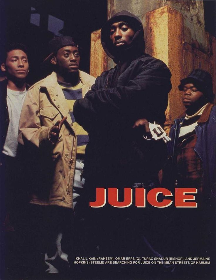 "Juice (1992) Tupac's debut in film. He's brilliant as ""Bishop""..a must see if you're a ran of Shakur(s)!"