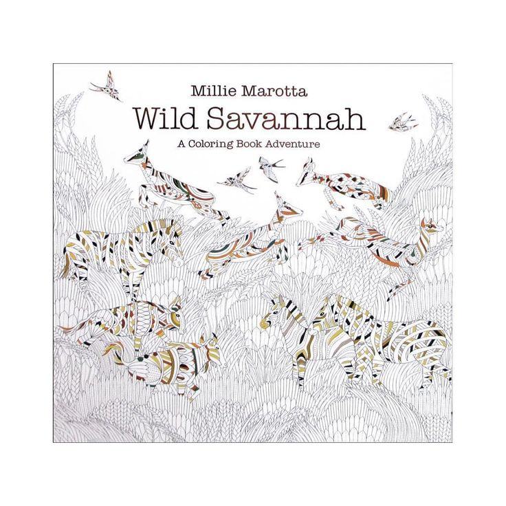 Sterling Publishing Lark Millie Marotta's Wild Savannah Coloring Book