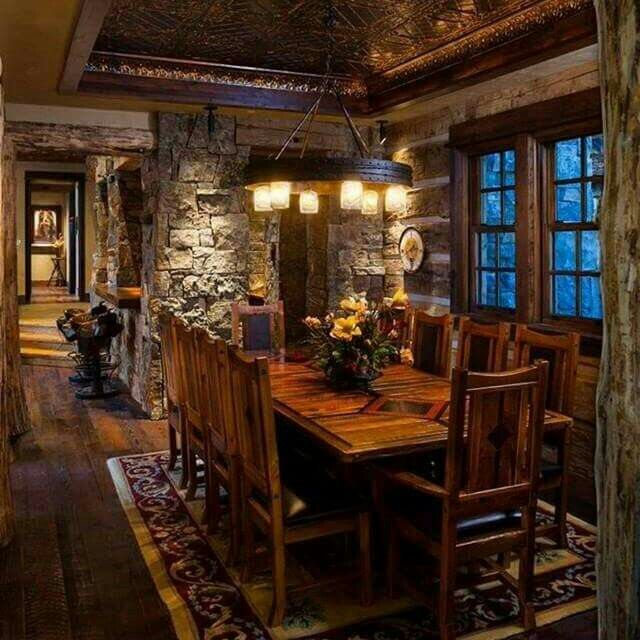 10 Best Ideas About Rustic Dining Rooms On Pinterest Rustic Chic Decor Ove