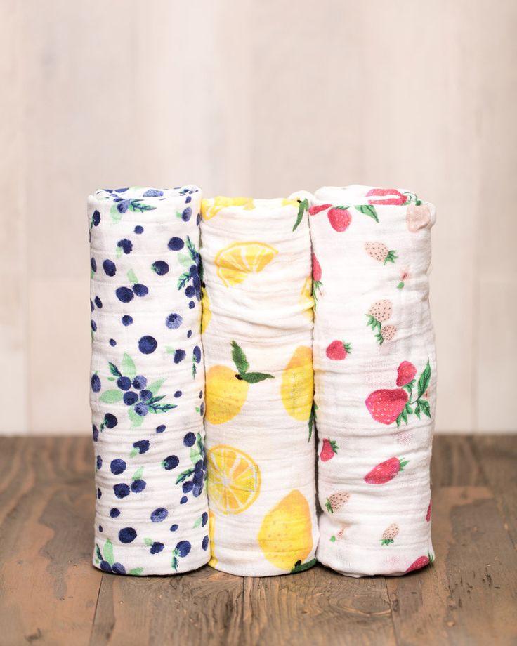 Cotton Swaddle Set - Berry Lemonade - Pre-order now! Little Unicorn