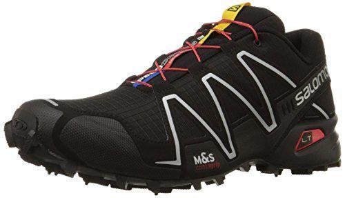 Salomon Men's Speedcross 3 Trail Running Shoe,Black/Black/Silver Metallic-X,10 M US