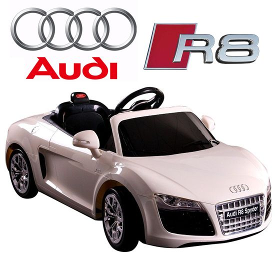 kids licensed 12v audi r8 spyder ride on car 25995 kids electric cars
