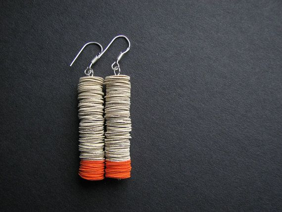 Paper earrings * blureco