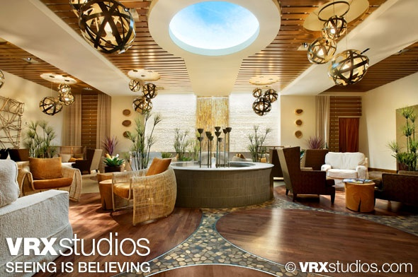 A relaxing and serene seating area at the Canyon Ranch Spa Club in The #Palazzo, Las Vegas. View more stunning hotel photography here: http://www.vrxstudios.com