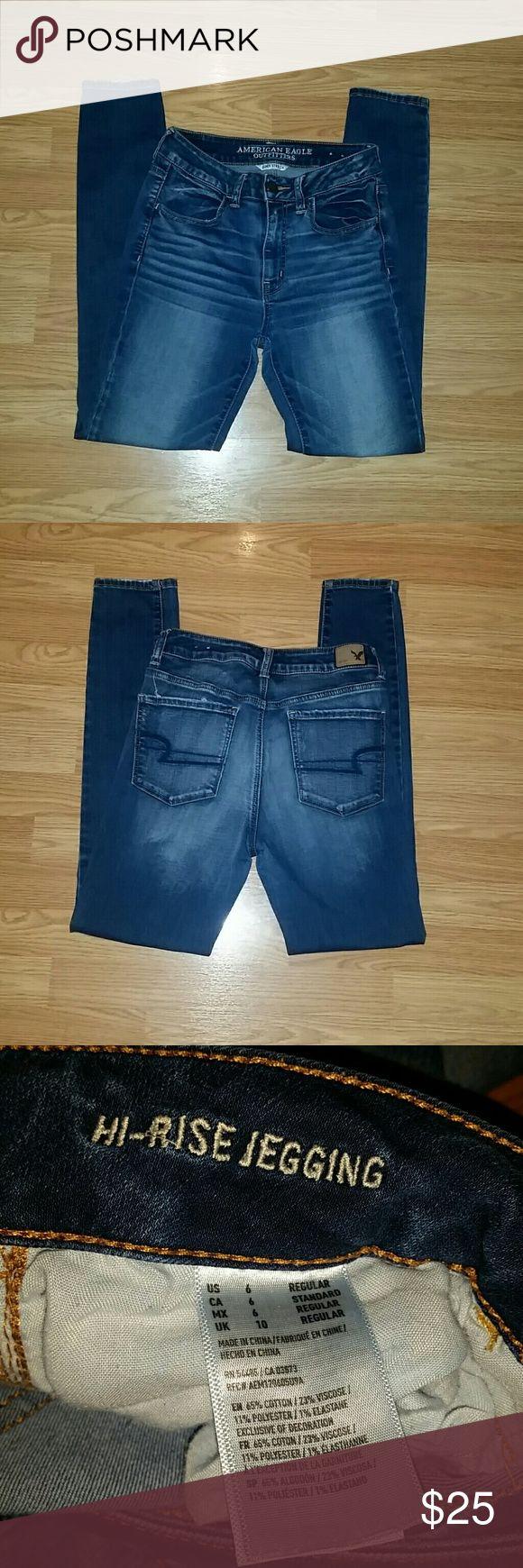 AMERICAN EAGLE JEANS HI-RISE JEGGING JEANS FROM AMERICAN EAGLE - SIZE 6 American Eagle Outfitters Jeans