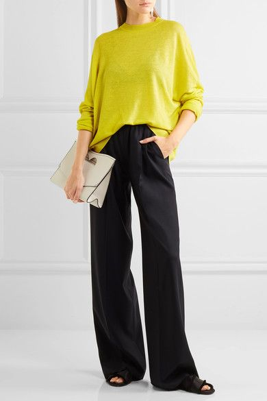 Jil Sander - Linen, Cashmere And Silk-blend Sweater - Chartreuse - medium