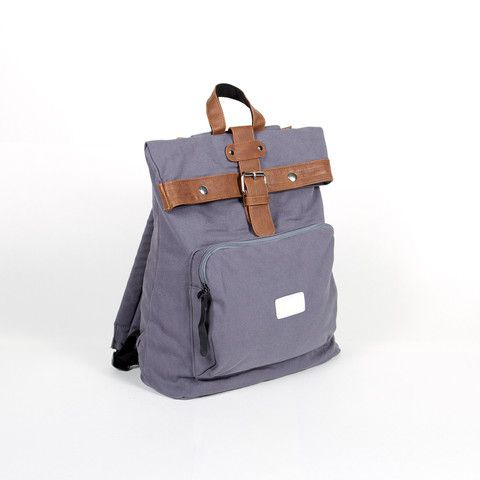 Bare Backpacks - Tailor in Greige - canvas and vegan leather..