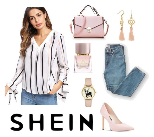 Untitled #161 by nadinna0906 on Polyvore featuring polyvore fashion style Everlane Nine West Burberry clothing