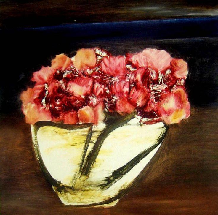 Sidney Nolan: Flowers in a bowl