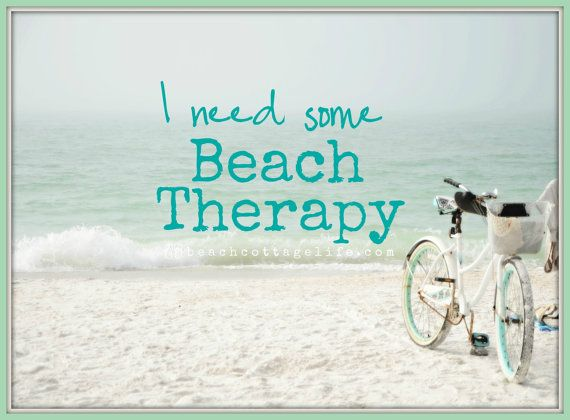 Beach Cruiser Bicycle / muted seaside colors by BeachCottageLife