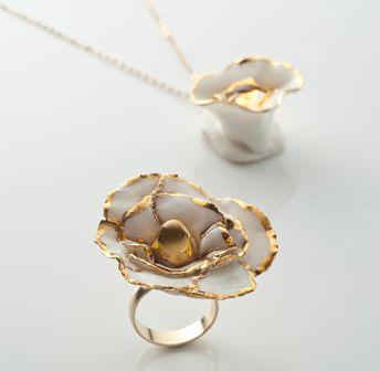 Clare Jordan Ceramics - Golden Irish Rose Pendant