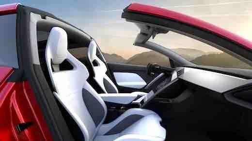 Image result for tesla roadster interior