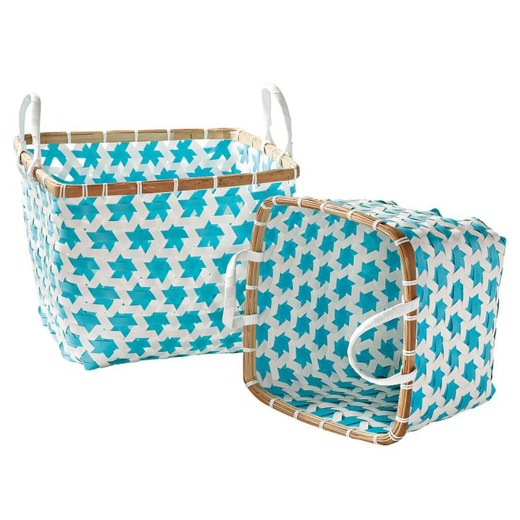 Aqua Baskets Mercado - Lot de 2 | Serena & Lily