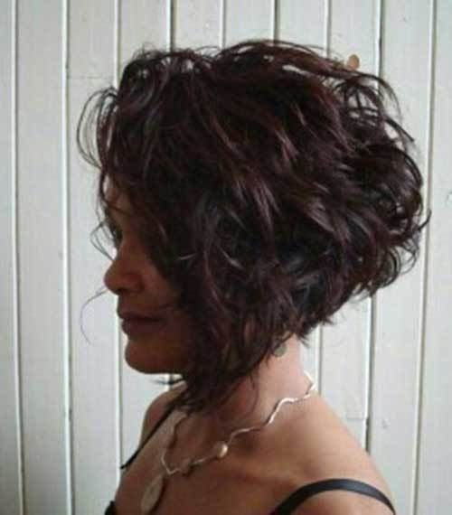 Short Curly Inverted Hairstyle